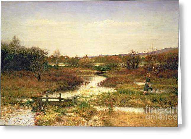 Lingering Autumn Greeting Card by Sir John Everett Millais