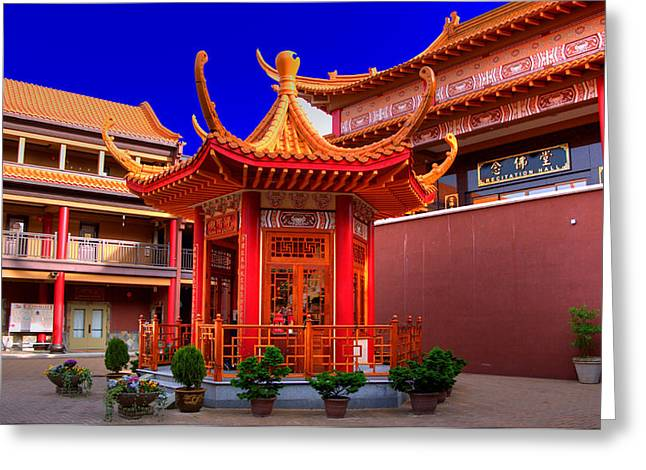 Lingyen Mountain Temple 32 Greeting Card by Lawrence Christopher