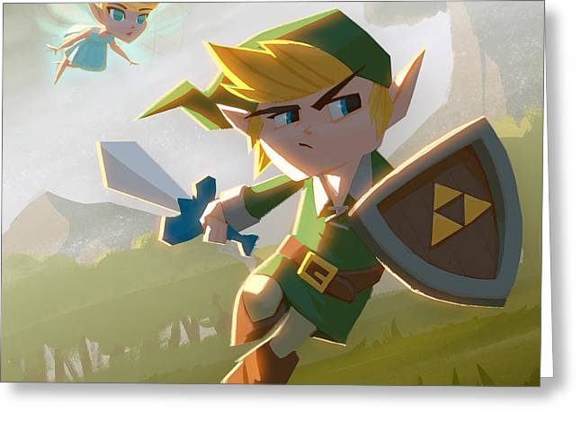 Game Greeting Cards - Link Greeting Card by Adam Ford