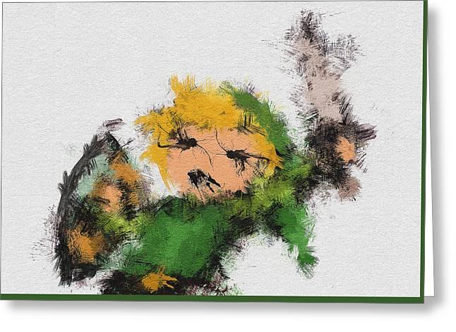 Link Greeting Card by Miranda Sether