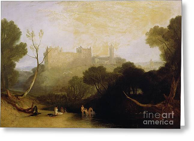 Scottish Landscapes Greeting Cards - Linlithgow Palace Greeting Card by Joseph Mallord William Turner