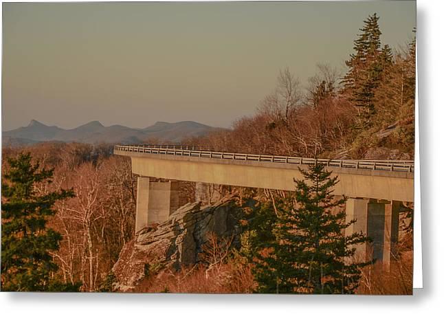 Linn Cove Viaduct Greeting Card by Jim Cook