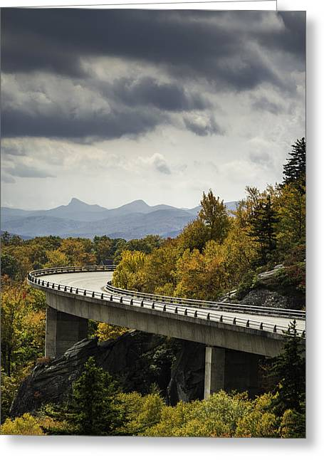 Storm Prints Photographs Greeting Cards - Linn Cove Viaduct Greeting Card by Johan Hakansson