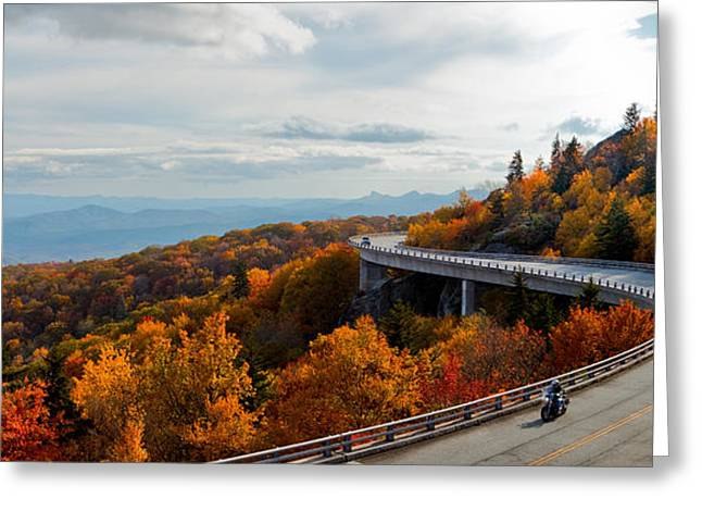 Autum Greeting Cards - Linn Cove Viaduct Greeting Card by Jonas Wingfield