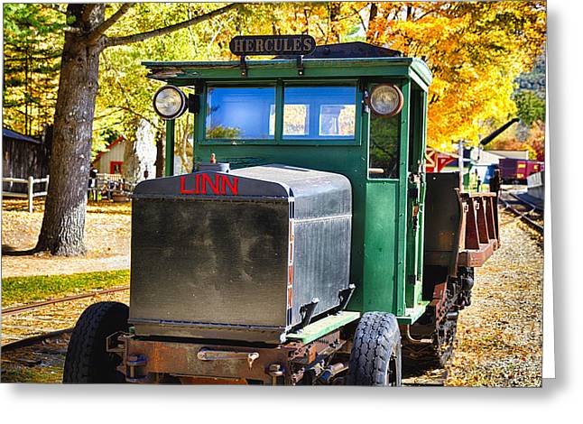 Logging Tractor Greeting Cards - Linn Hercules Greeting Card by George Oze