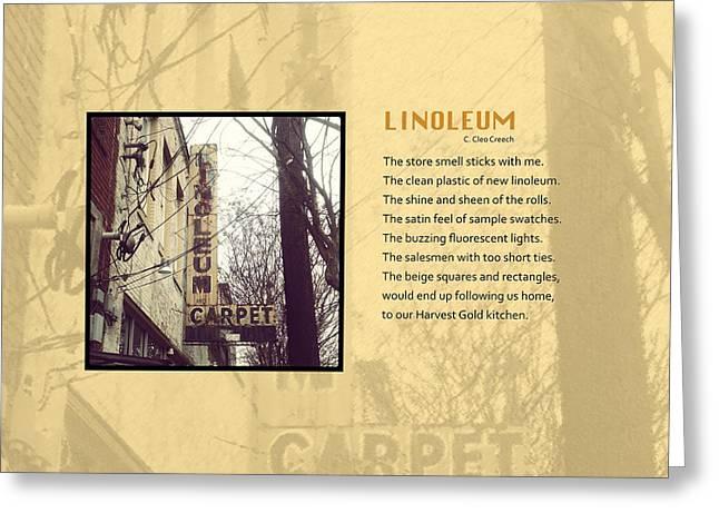 Linoleum Greeting Cards - Linoleum Greeting Card by Cleo Creech