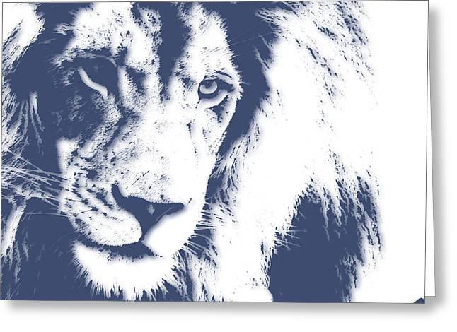 Mount Kilimanjaro National Park Greeting Cards - Lion 4 Greeting Card by Joe Hamilton
