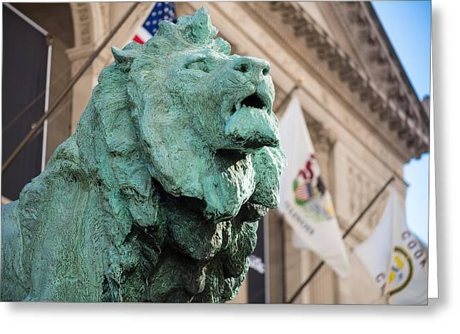 Lion Art Institute Greeting Card by Steve Gadomski