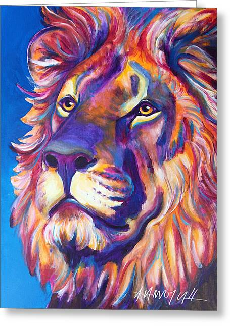 Lion - Cecil Greeting Card by Alicia VanNoy Call