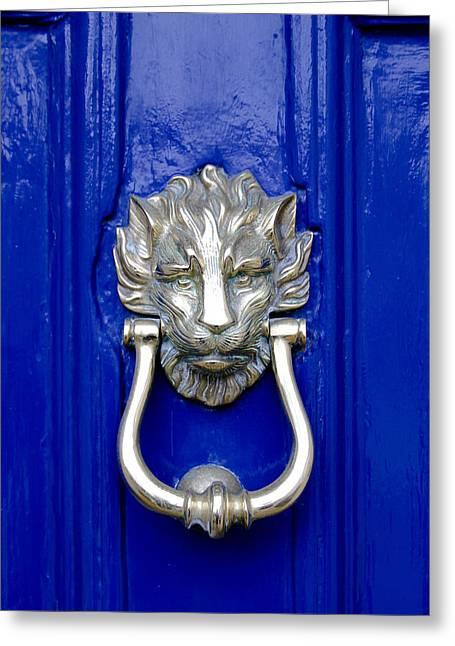 Tony Grider Greeting Cards - Lion Doorknocker Greeting Card by Tony Grider