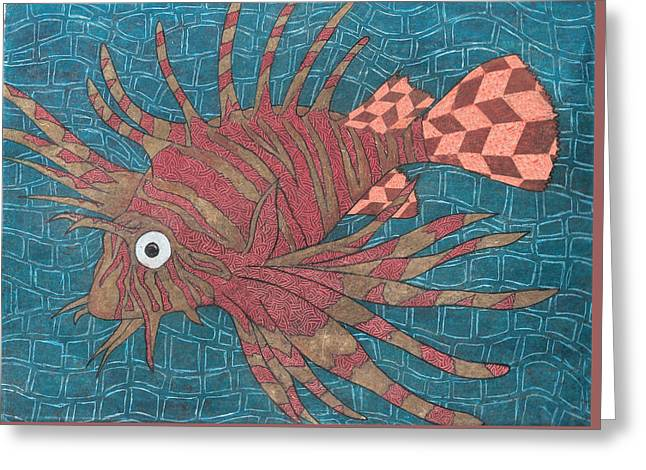 Sea Lions Greeting Cards - Lion Fish Greeting Card by Ricardo Gonzalez