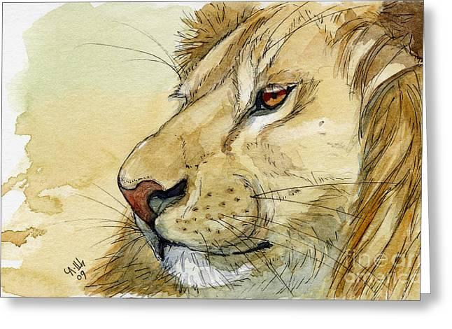 Lion Inspiration  Greeting Card by Svetlana Ledneva-Schukina