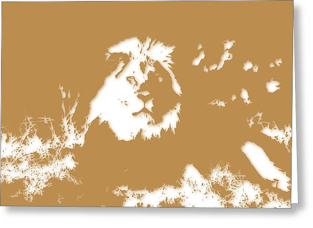 Mount Kilimanjaro National Park Greeting Cards - Lion Greeting Card by Joe Hamilton
