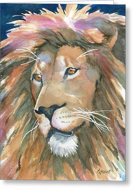 Lions Greeting Cards - Lion of Judah Greeting Card by Marsha Elliott