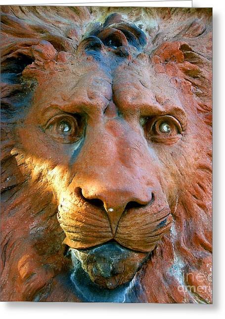 Historic Statue Greeting Cards - Lion of Saint Augustine Greeting Card by David Lee Thompson