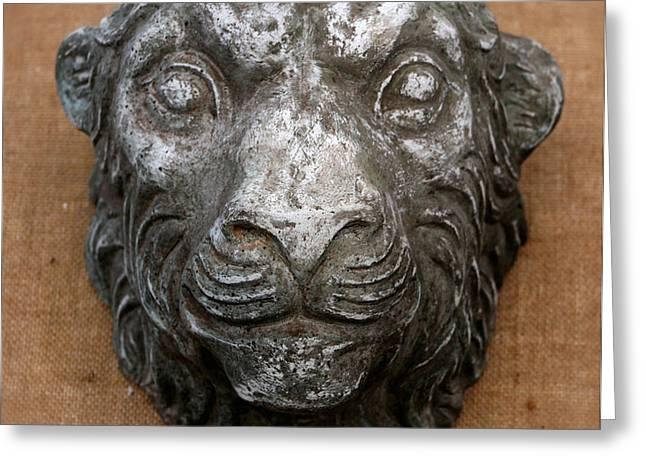 Decorative Sculptures Greeting Cards - Lion Greeting Card by Vladimir Kozma