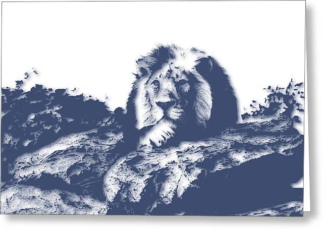 Lions Greeting Cards - Lion3 Greeting Card by Joe Hamilton