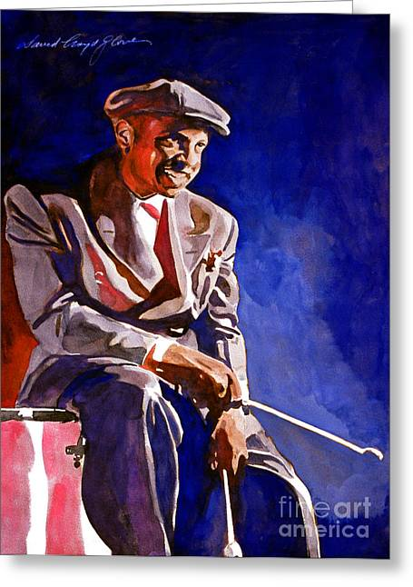 Lionel Greeting Cards - Lionel Hampton  Greeting Card by David Lloyd Glover
