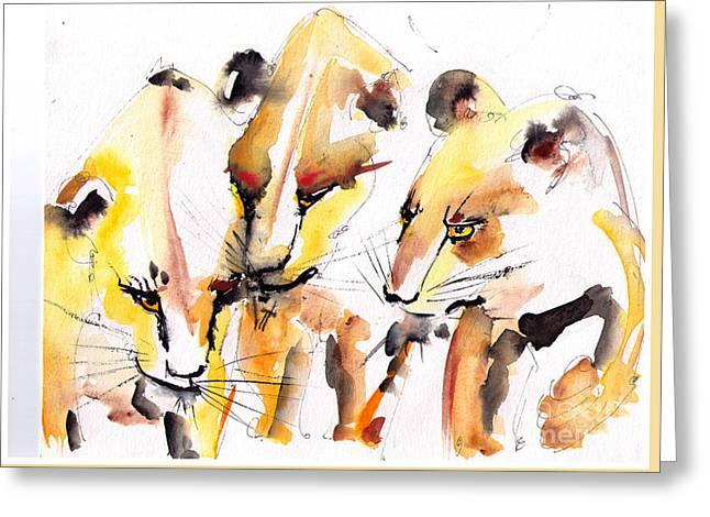 Lioness Greeting Cards - Lioness Greeting Card by Eric Sorensen