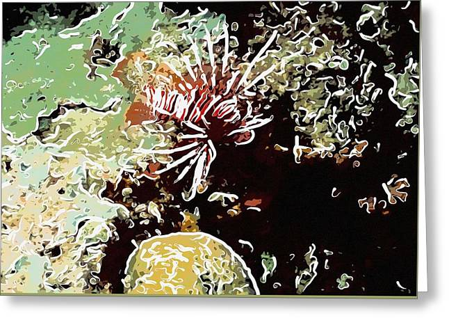 Underwater Photos Paintings Greeting Cards - Lionfish 1 Greeting Card by Lanjee Chee