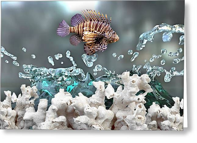 Sea Lions Greeting Cards - Lionfish Collection Greeting Card by Marvin Blaine