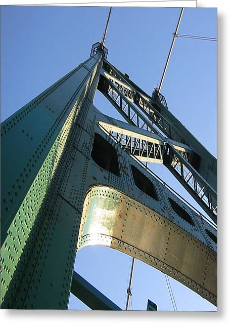 Lions Gate Bridge Greeting Cards - Lions Gate Bridge  Greeting Card by Joseph G Holland