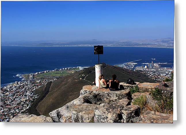 Cape Town Greeting Cards - Lions Head View Cape Town Greeting Card by Aidan Moran