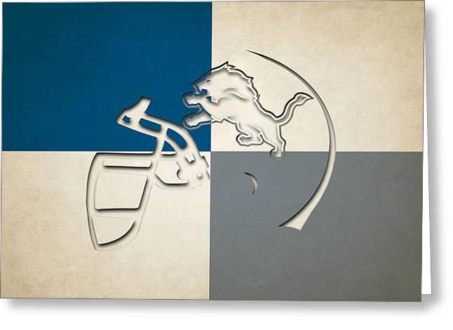 Lions Greeting Cards - Lions Helmet Art Greeting Card by Joe Hamilton