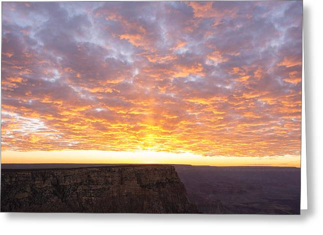 Lipon Point Sunset 3 - Grand Canyon National Park - Arizona Greeting Card by Brian Harig