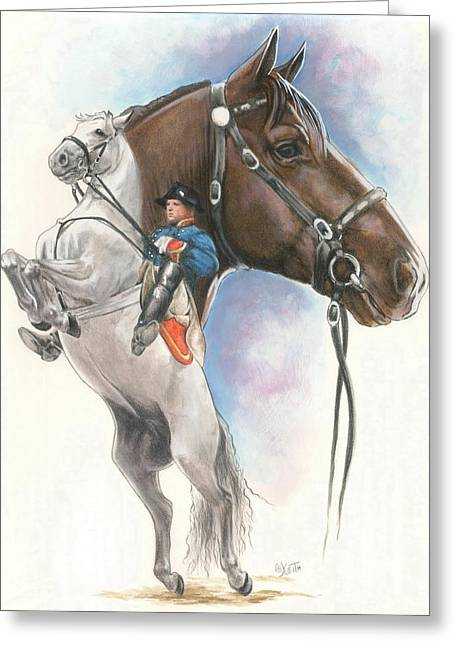 The Horse Greeting Cards - Lippizaner Greeting Card by Barbara Keith