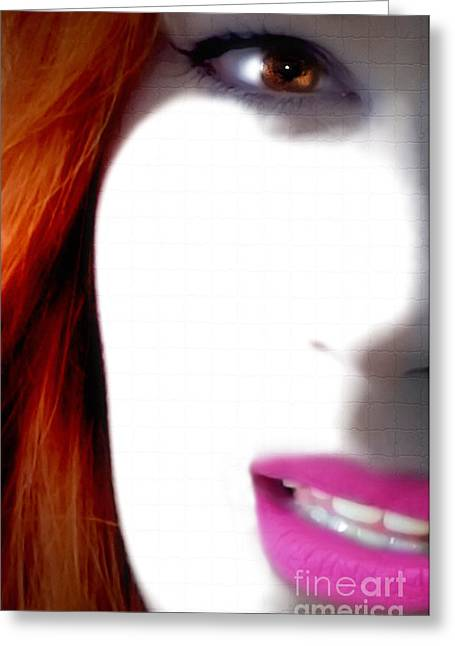 Steven Digman Greeting Cards - Lips Greeting Card by Steven  Digman
