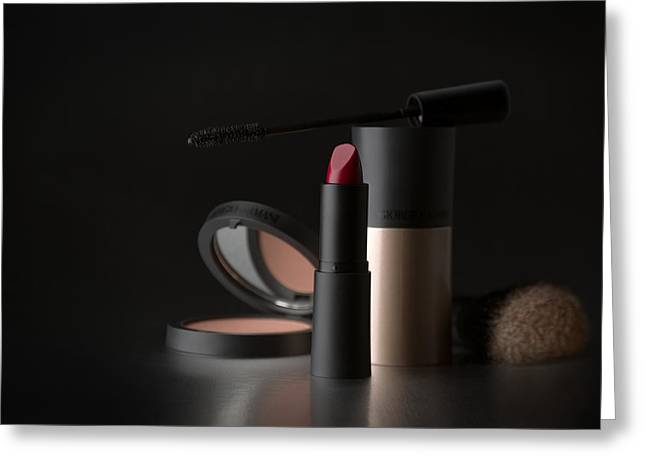 Mascara Greeting Cards - Lipstick and Makeup Greeting Card by Mark Wagoner