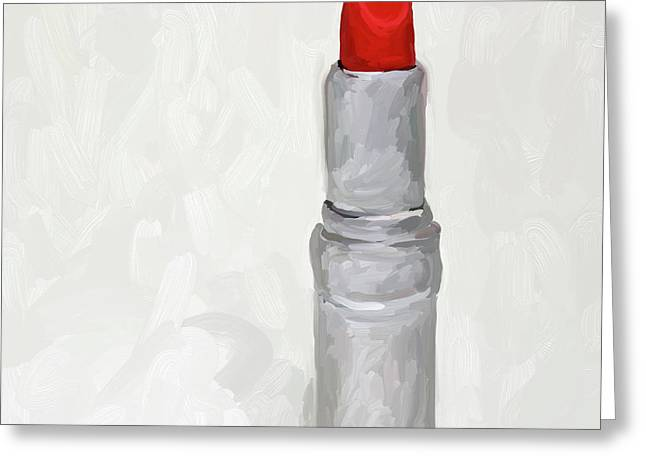 Lipstick I Greeting Card by Jai Johnson