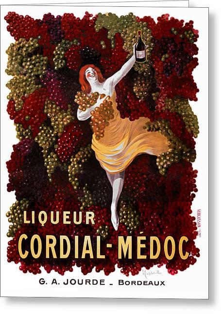Liqueur Cordial-medoc - Paris 1908 Greeting Card by Daniel Hagerman