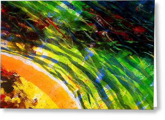 Impressionist Greeting Cards - Liquid Abstract Five Greeting Card by Richard Rochkovsky