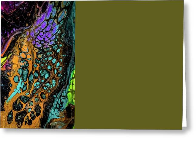 Abstract Digital Mixed Media Greeting Cards - Liquid abstract Greeting Card by Lilia D
