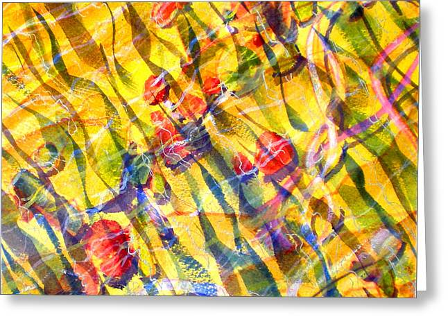 Abstract Beach Landscape Greeting Cards - Liquid Abstract One Greeting Card by Richard Rochkovsky