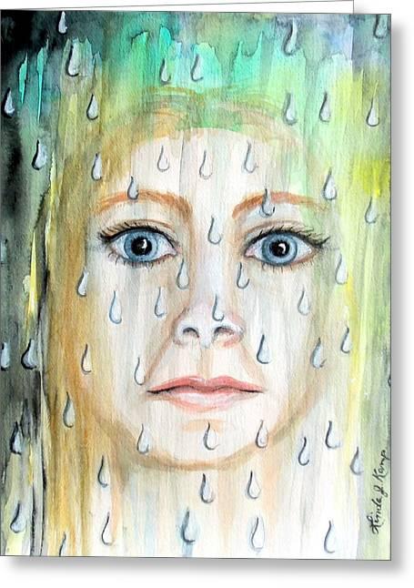 Sweat Paintings Greeting Cards - Liquid Catharsis Greeting Card by Linda Nielsen