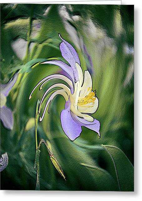 Fantasy Picture Greeting Cards - Liquid Columbine Greeting Card by James Steele
