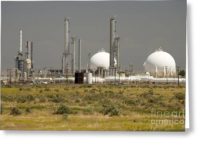 Liquid Gas Processing Plant Greeting Card by Inga Spence