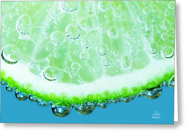 Effervescent Digital Greeting Cards - Liquid Jewels 2 Greeting Card by John Bailey