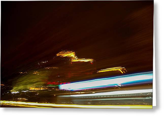 Beach Photography Greeting Cards - Liquid Lights  Greeting Card by Richard Bittles