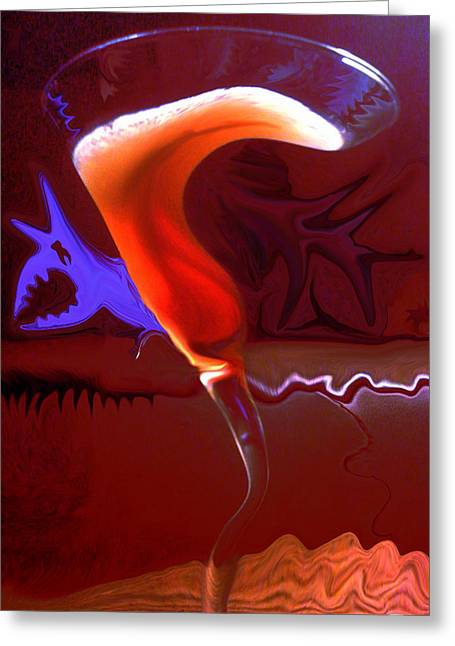 Liquid Relief Greeting Card by Paul Anderson