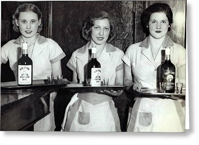 Liquor Is Served - Prohibition Ends 1933 Greeting Card by Daniel Hagerman