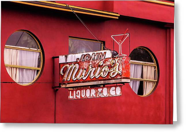 Liquor To Go Greeting Card by Art Block Collections