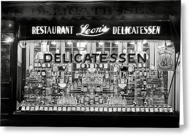 Liquor Window Display Post Prohibition 1934 Greeting Card by Daniel Hagerman