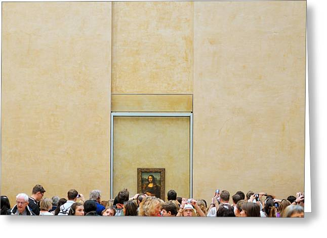 Mona Greeting Cards - Lisa\'s Window On The World Greeting Card by Riekus Reinders