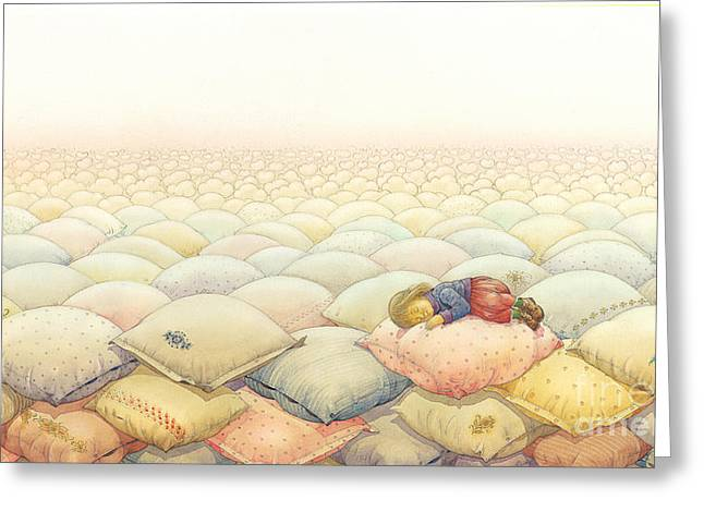 Dreams Drawings Greeting Cards - Lisas Journey03 Greeting Card by Kestutis Kasparavicius