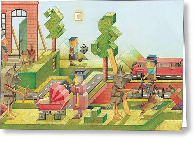 Lisas Journey08 Greeting Card by Kestutis Kasparavicius