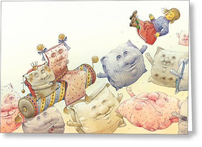 Dreams Drawings Greeting Cards - Lisas Journey13 Greeting Card by Kestutis Kasparavicius
